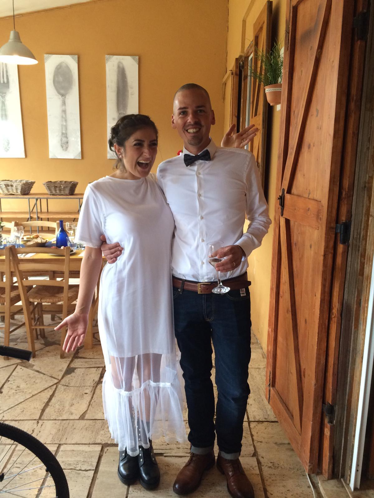 Brindisi e auguri a La Trattoria per il matrimonio di Eleonora e Francesco!!!