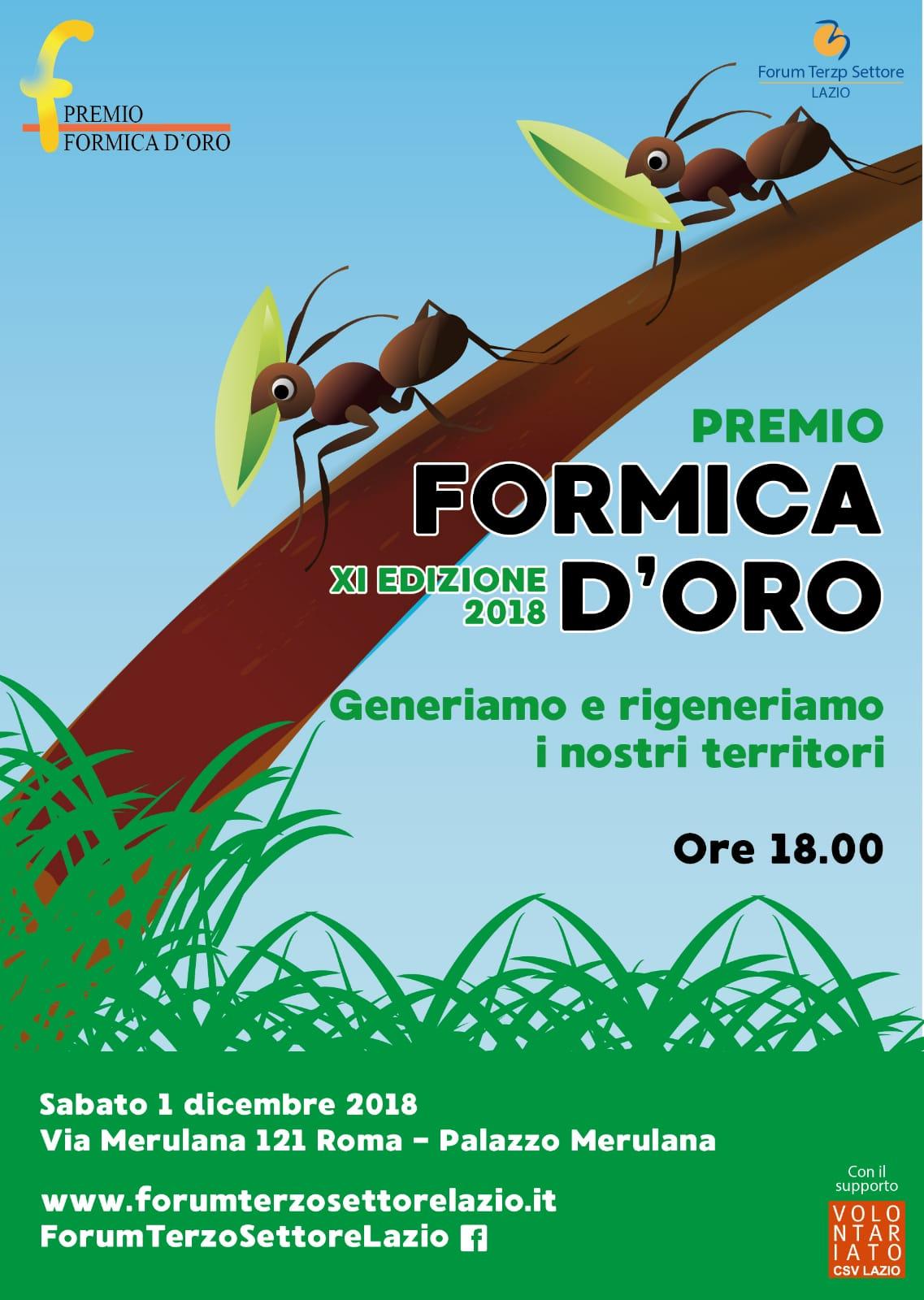 """XI Edizione del Premio """"Formica d'oro"""""""